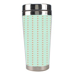 Hearts & Stripes Stainless Steel Travel Tumbler