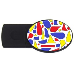 Silly Primaries 2gb Usb Flash Drive (oval)