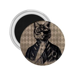 Harlequin Cat 2 25  Button Magnet by StuffOrSomething