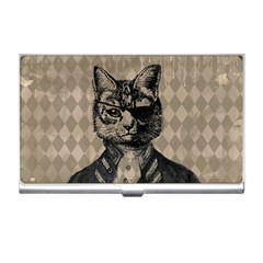 Harlequin Cat Business Card Holder by StuffOrSomething