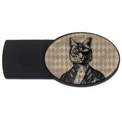 Harlequin Cat 4gb Usb Flash Drive (oval) by StuffOrSomething