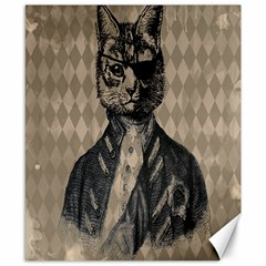 Harlequin Cat Canvas 8  X 10  (unframed) by StuffOrSomething