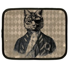 Harlequin Cat Netbook Sleeve (xl) by StuffOrSomething
