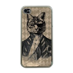 Harlequin Cat Apple Iphone 4 Case (clear) by StuffOrSomething