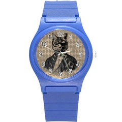 Harlequin Cat Plastic Sport Watch (small) by StuffOrSomething