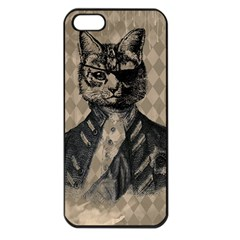 Harlequin Cat Apple Iphone 5 Seamless Case (black) by StuffOrSomething