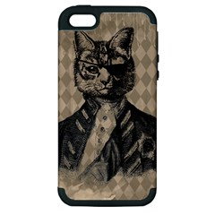 Harlequin Cat Apple Iphone 5 Hardshell Case (pc+silicone) by StuffOrSomething