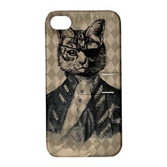 Harlequin Cat Apple Iphone 4/4s Hardshell Case With Stand by StuffOrSomething