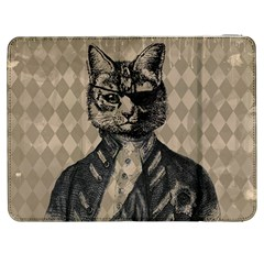 Harlequin Cat Samsung Galaxy Tab 7  P1000 Flip Case by StuffOrSomething