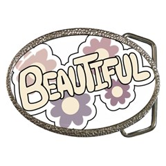 Beautiful Floral Art Belt Buckle (oval) by Colorfulart23