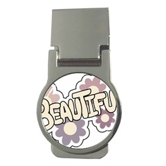 Beautiful Floral Art Money Clip (round) by Colorfulart23