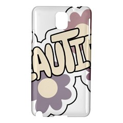 Beautiful Floral Art Samsung Galaxy Note 3 N9005 Hardshell Case by Colorfulart23