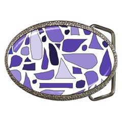 Silly Purples Belt Buckle (oval) by FunWithFibro