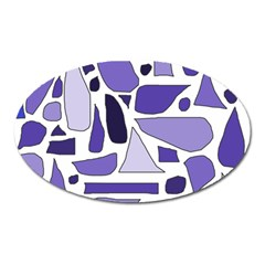 Silly Purples Magnet (oval) by FunWithFibro