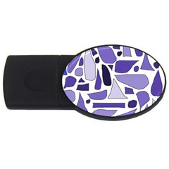 Silly Purples 2gb Usb Flash Drive (oval) by FunWithFibro
