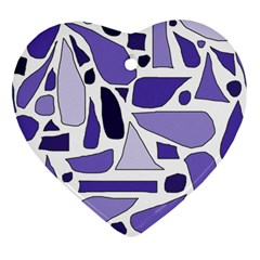 Silly Purples Heart Ornament (two Sides) by FunWithFibro