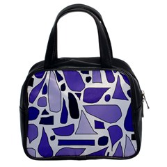 Silly Purples Classic Handbag (two Sides) by FunWithFibro