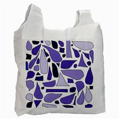 Silly Purples White Reusable Bag (one Side) by FunWithFibro
