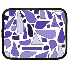 Silly Purples Netbook Sleeve (xl) by FunWithFibro