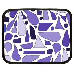 Silly Purples Netbook Sleeve (xxl) by FunWithFibro
