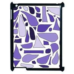 Silly Purples Apple Ipad 2 Case (black) by FunWithFibro