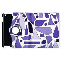 Silly Purples Apple Ipad 3/4 Flip 360 Case by FunWithFibro