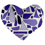 Silly Purples 19  Premium Heart Shape Cushion Front