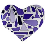 Silly Purples 19  Premium Heart Shape Cushion Back