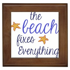 The Beach Fixes Everything Framed Ceramic Tile by OneStopGiftShop
