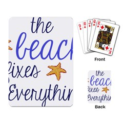 The Beach Fixes Everything Playing Cards Single Design by OneStopGiftShop