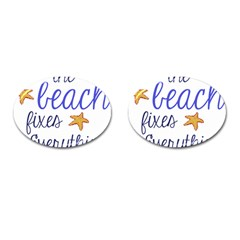The Beach Fixes Everything Cufflinks (oval) by OneStopGiftShop