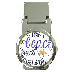The Beach Fixes Everything Money Clip With Watch