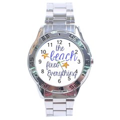 The Beach Fixes Everything Stainless Steel Watch by OneStopGiftShop