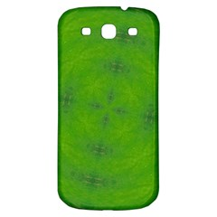 Go Green Kaleidoscope Samsung Galaxy S3 S Iii Classic Hardshell Back Case by Fractalsandkaleidoscopes