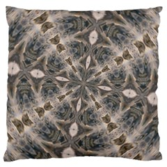 Flowing Waters Kaleidoscope Large Cushion Case (two Sided)  by Fractalsandkaleidoscopes