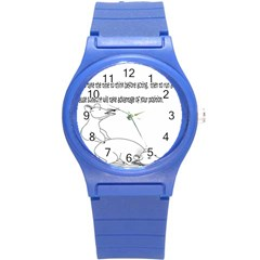 Better To Take Time To Think Plastic Sport Watch (small) by Doudy