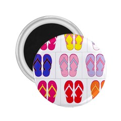 Flip Flop Collage 2 25  Button Magnet by StuffOrSomething