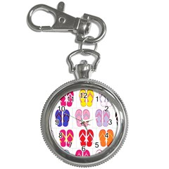 Flip Flop Collage Key Chain Watch by StuffOrSomething