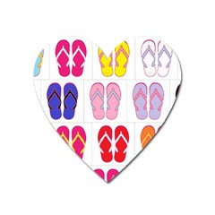 Flip Flop Collage Magnet (heart) by StuffOrSomething