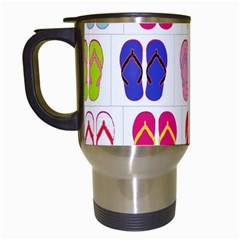 Flip Flop Collage Travel Mug (white) by StuffOrSomething