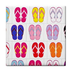 Flip Flop Collage Face Towel by StuffOrSomething