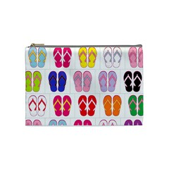 Flip Flop Collage Cosmetic Bag (medium) by StuffOrSomething