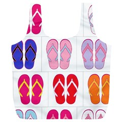 Flip Flop Collage Reusable Bag (xl)