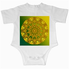 Yellow Green Abstract Wheel Of Fire Infant Bodysuit