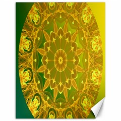 Yellow Green Abstract Wheel Of Fire Canvas 12  X 16  (unframed)