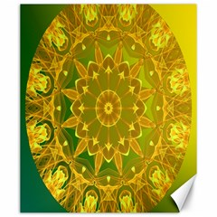 Yellow Green Abstract Wheel Of Fire Canvas 20  X 24  (unframed)