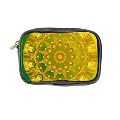 Yellow Green Abstract Wheel Of Fire Coin Purse