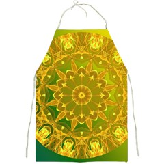 Yellow Green Abstract Wheel Of Fire Apron by DianeClancy