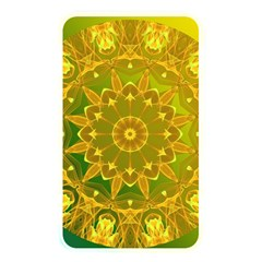 Yellow Green Abstract Wheel Of Fire Memory Card Reader (rectangular) by DianeClancy