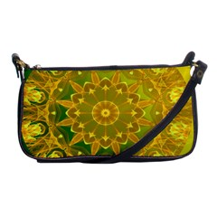 Yellow Green Abstract Wheel Of Fire Evening Bag